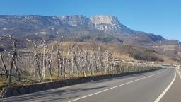 Mountains have particular shape close to Bozen.
